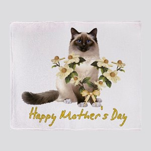 Mother's Day Cat Throw Blanket