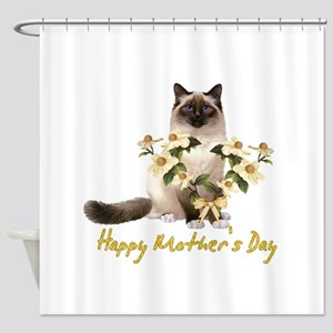 Mother's Day Cat Shower Curtain