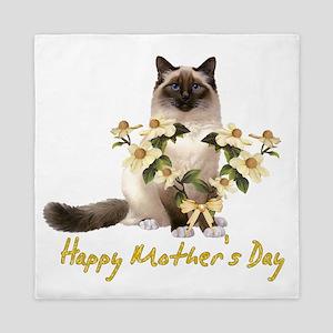 Mother's Day Cat Queen Duvet