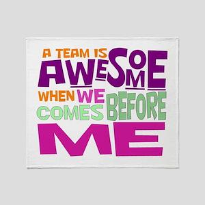 Teamwork Throw Blanket