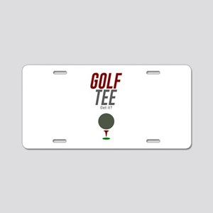 Golf Tee Pun Golfing Game S Aluminum License Plate