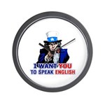 I Want You To Speak English Wall Clock