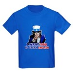 I Want You To Speak English Kids Dark T-Shirt