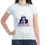I Want You To Speak English Jr. Ringer T-Shirt