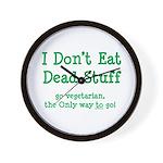 I Don't Eat Dead Stuff Wall Clock
