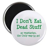 I Don't Eat Dead Stuff Magnet