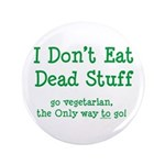 "I Don't Eat Dead Stuff 3.5"" Button (100 pack)"