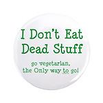 """I Don't Eat Dead Stuff 3.5"""" Button"""