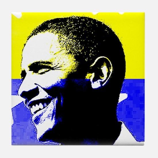 Rock Star Obama 08 Tile Coaster