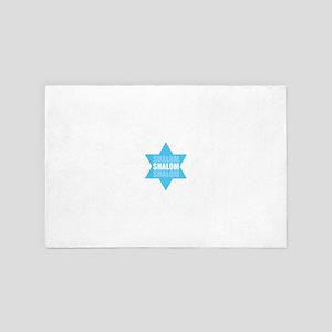 Shalom Blue Star 4' x 6' Rug