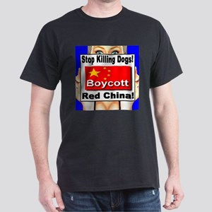 Stop Killing Dogs Boycott Red Dark T-Shirt