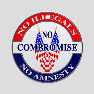 No Amnesty Ornament (Round)