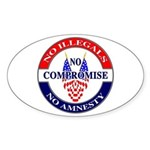 No Amnesty Oval Sticker