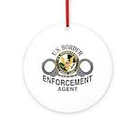 Border Patrol Agent Ornament (Round)