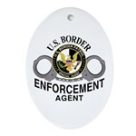 Border Patrol Agent Oval Ornament