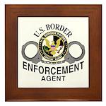 Border Patrol Agent Framed Tile