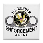 Border Patrol Agent Tile Coaster