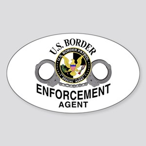 Border Patrol Agent Oval Sticker