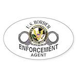 Border Patrol Agent Oval Sticker