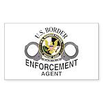 Border Patrol Agent Rectangle Sticker