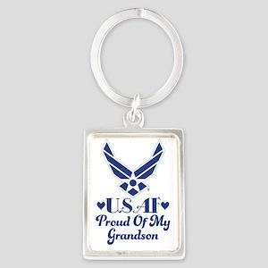 Air Force Grandma Proud Grandson Keychains