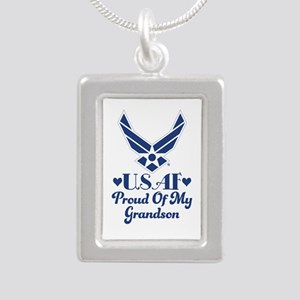 Air Force Grandma Proud Grandson Necklaces