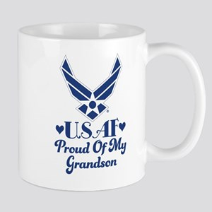 Air Force Grandma Proud Grandson Mugs