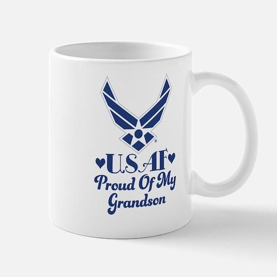 Air Force Grandma Proud Grandson Mugs