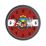 Latvia Flag Wall Clock