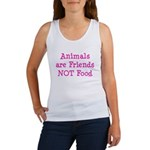 Animals are Friends Not Food Women's Tank Top