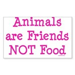 Animals are Friends Not Food Sticker (Rectangle 50