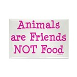 Animals are Friends Not Food Rectangle Magnet (10