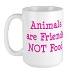 Animals are Friends Not Food Large Mug