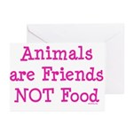 Animals are Friends Not Food Greeting Cards (Pk of