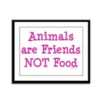 Animals are Friends Not Food Framed Panel Print