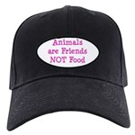 Animals are Friends Not Food Black Cap