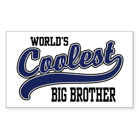 World's Coolest Big Brother Rectangle Sticker