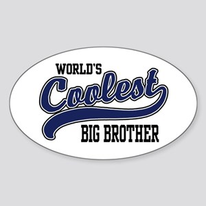 World's Coolest Big Brother Oval Sticker