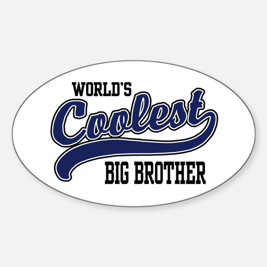 World's Coolest Big Brother Oval Decal