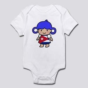 Cuba Flag Girl Infant Bodysuit