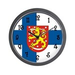 Finnish Flag Wall Clock