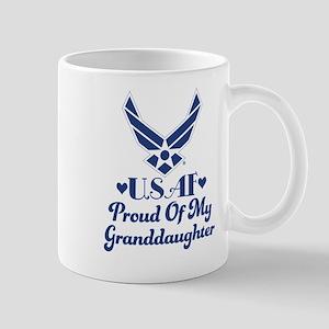 Air Force Granddaughter Proud Grandma Mugs
