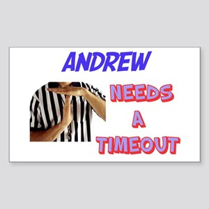 Andrew Needs a Timeout Rectangle Sticker