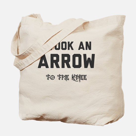 Funny Arrow to the knee Tote Bag