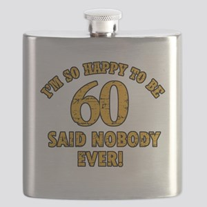 60 birthday design Flask