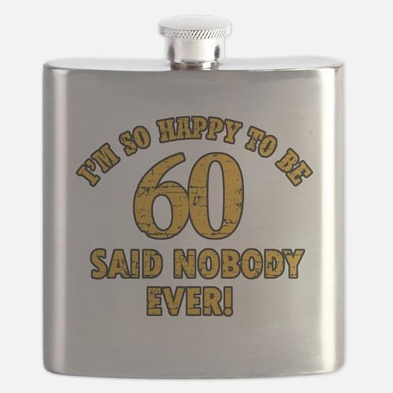 60 birthday design Flask