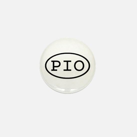 PIO Oval Mini Button