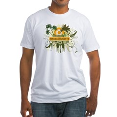 Massachusetts Palm Tree Shirt