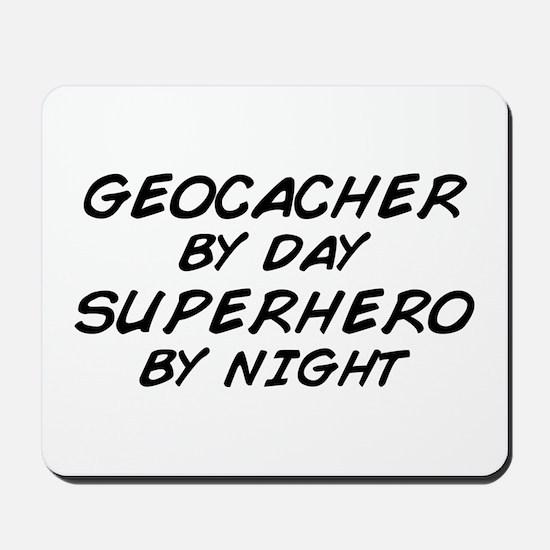 Geocacher Superhero by Night Mousepad