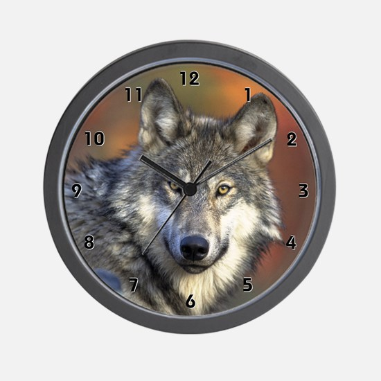 Wolf Wolves Canine Hunt Clocks Wall Clock